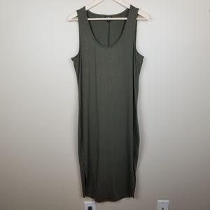 Torrid Olive Green Scoop Neck Tank Maxi Dress